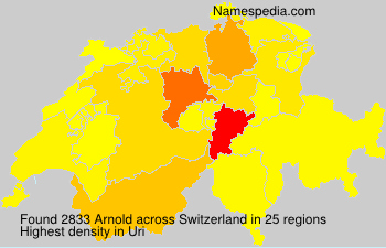 Surname Arnold in Switzerland