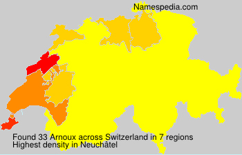 Surname Arnoux in Switzerland