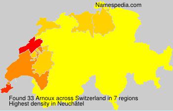 Surname Arnoux in Switzerland