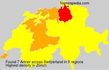 Familiennamen Artner - Switzerland