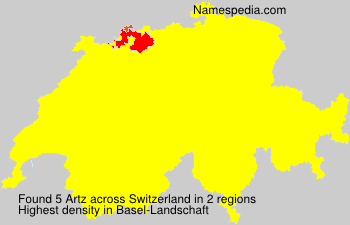 Surname Artz in Switzerland