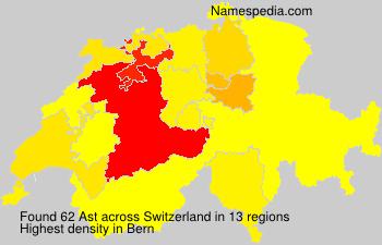 Surname Ast in Switzerland