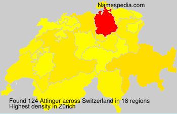 Surname Attinger in Switzerland