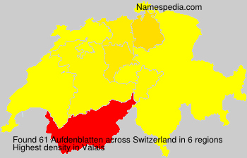 Surname Aufdenblatten in Switzerland