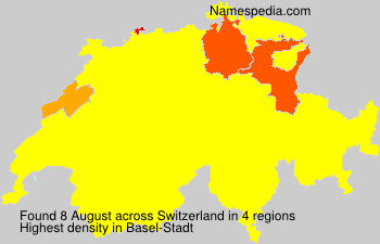 Surname August in Switzerland