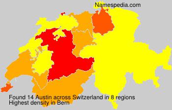 Familiennamen Austin - Switzerland