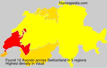 Familiennamen Avondo - Switzerland