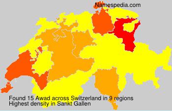 Surname Awad in Switzerland
