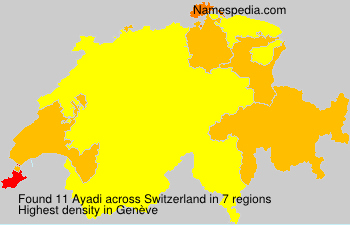 Surname Ayadi in Switzerland