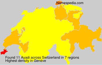Surname Ayadi in Switzerland