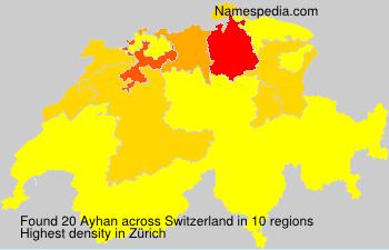 Surname Ayhan in Switzerland
