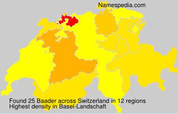 Surname Baader in Switzerland