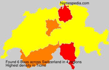 Surname Baas in Switzerland