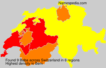 Surname Baba in Switzerland
