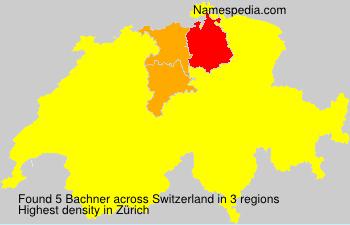 Surname Bachner in Switzerland