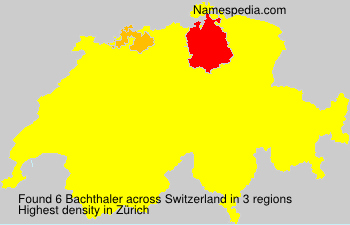 Surname Bachthaler in Switzerland
