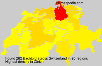 Surname Bachtold in Switzerland