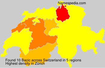 Surname Bacic in Switzerland