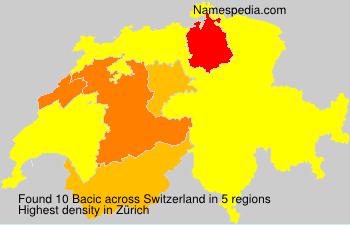 Familiennamen Bacic - Switzerland