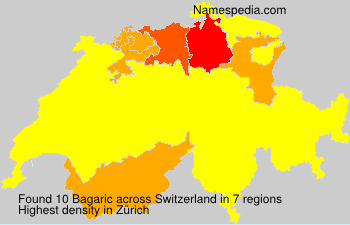 Surname Bagaric in Switzerland