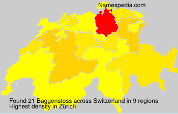 Surname Baggenstoss in Switzerland