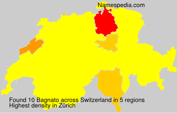 Surname Bagnato in Switzerland