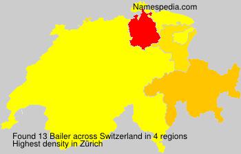 Surname Bailer in Switzerland