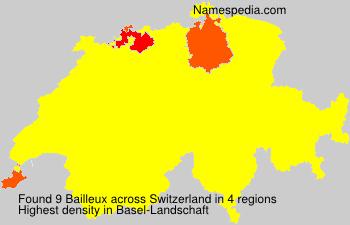 Surname Bailleux in Switzerland