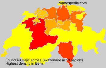 Surname Bajic in Switzerland