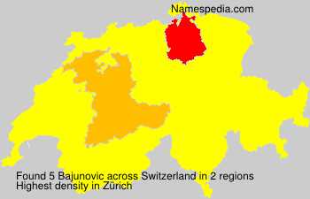 Familiennamen Bajunovic - Switzerland