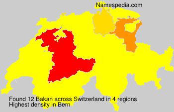 Surname Bakan in Switzerland