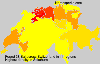 Surname Bal in Switzerland
