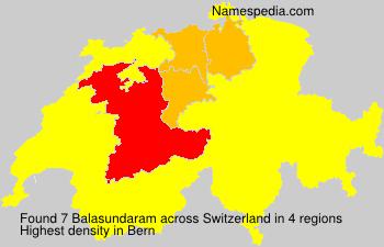 Surname Balasundaram in Switzerland