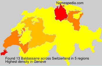 Surname Baldassarre in Switzerland