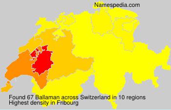 Surname Ballaman in Switzerland
