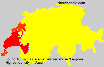 Surname Balmas in Switzerland