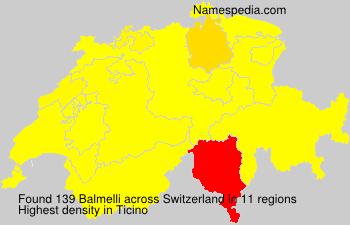 Surname Balmelli in Switzerland