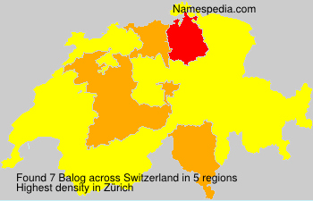 Surname Balog in Switzerland