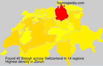 Surname Balogh in Switzerland