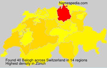 Surname Balogh in Switzerland