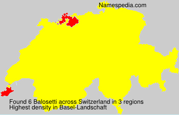 Surname Balosetti in Switzerland