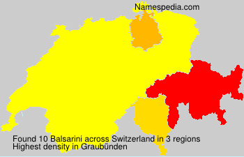 Surname Balsarini in Switzerland