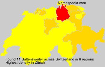 Familiennamen Baltensweiler - Switzerland