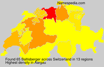 Surname Baltisberger in Switzerland