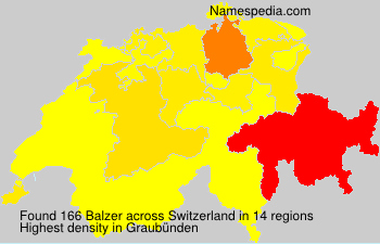 Surname Balzer in Switzerland