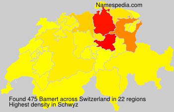 Surname Bamert in Switzerland