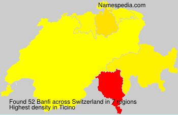 Familiennamen Banfi - Switzerland