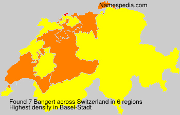 Surname Bangert in Switzerland