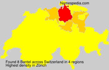 Surname Bantel in Switzerland