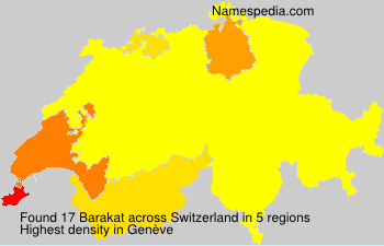 Surname Barakat in Switzerland